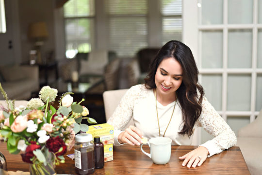 I drink Honey Lavender Vanilla Hot Tea every night before bed as part of my relaxation ritual! It's 3 ingredients and the perfect drink to help you sleep