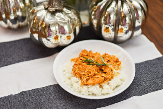 Here is one of my favorite recipes, Instant Pot Savory Pumpkin Shredded Chicken.
